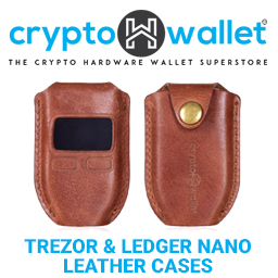 Bitcoin Hardware Wallet Trezor Ledger Nano leather case