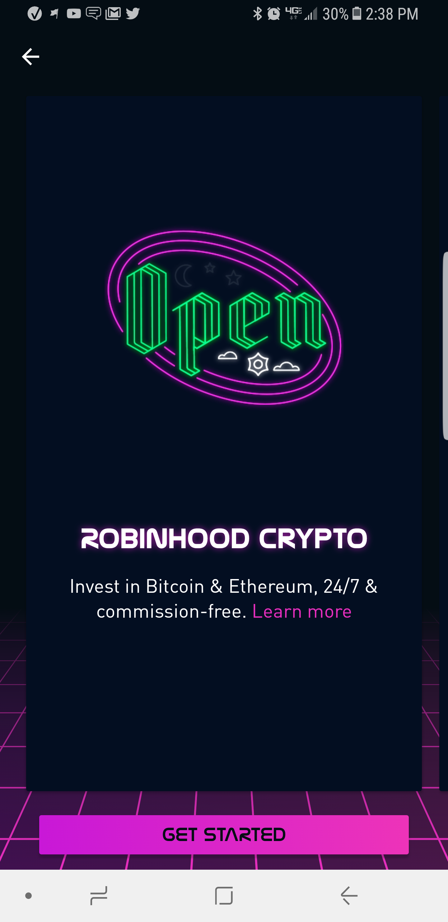 how does investing in cryptocurrency work with robinhood