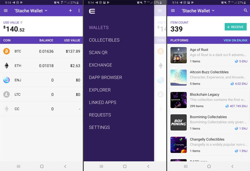 best crypto currency wallet mobile app enjin