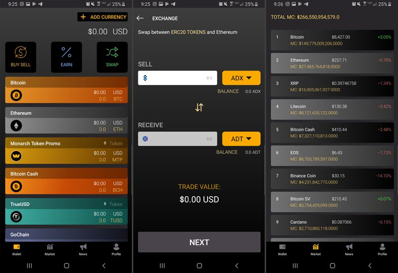 crypto wallet mobile app best top review monarch cryptocurrency token