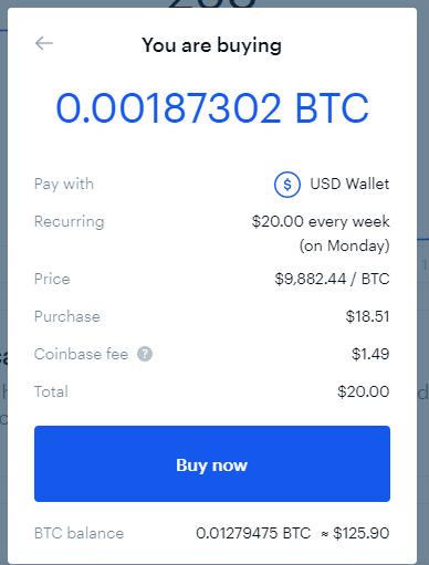 bitcoin dollar cost average DCA BCA coinbase bitpanda reoccurring buy