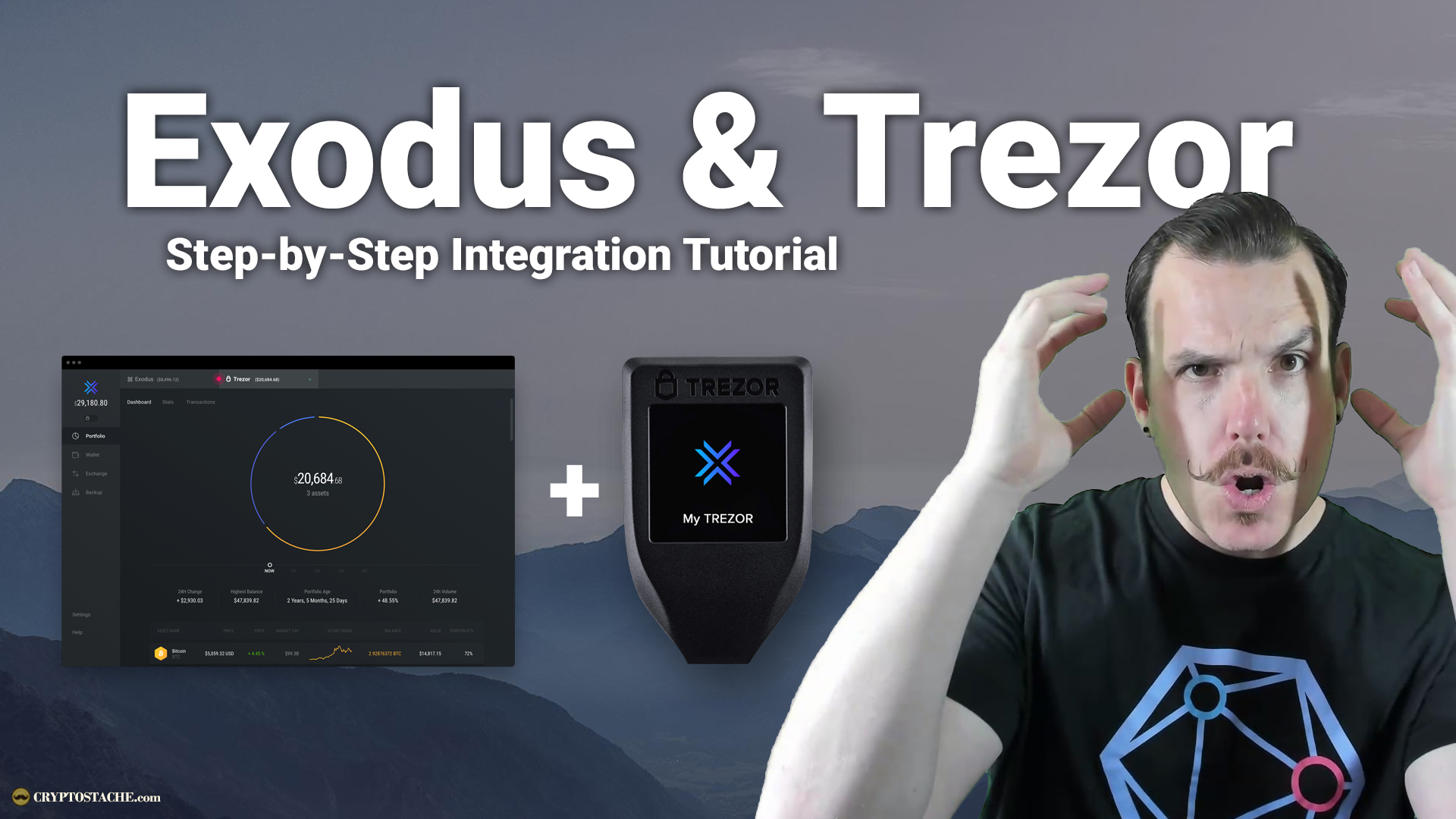 exodus wallet trezor integration connection hardware wallet tutorial