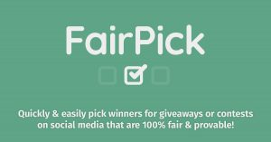 fairpick fair pick picker retweet twitter contest social media pickaw draw twrench random winner