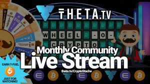 theta tv sliver live stream community stachers cryptostache TFUEL wheel-o-crypto giveaway prizes