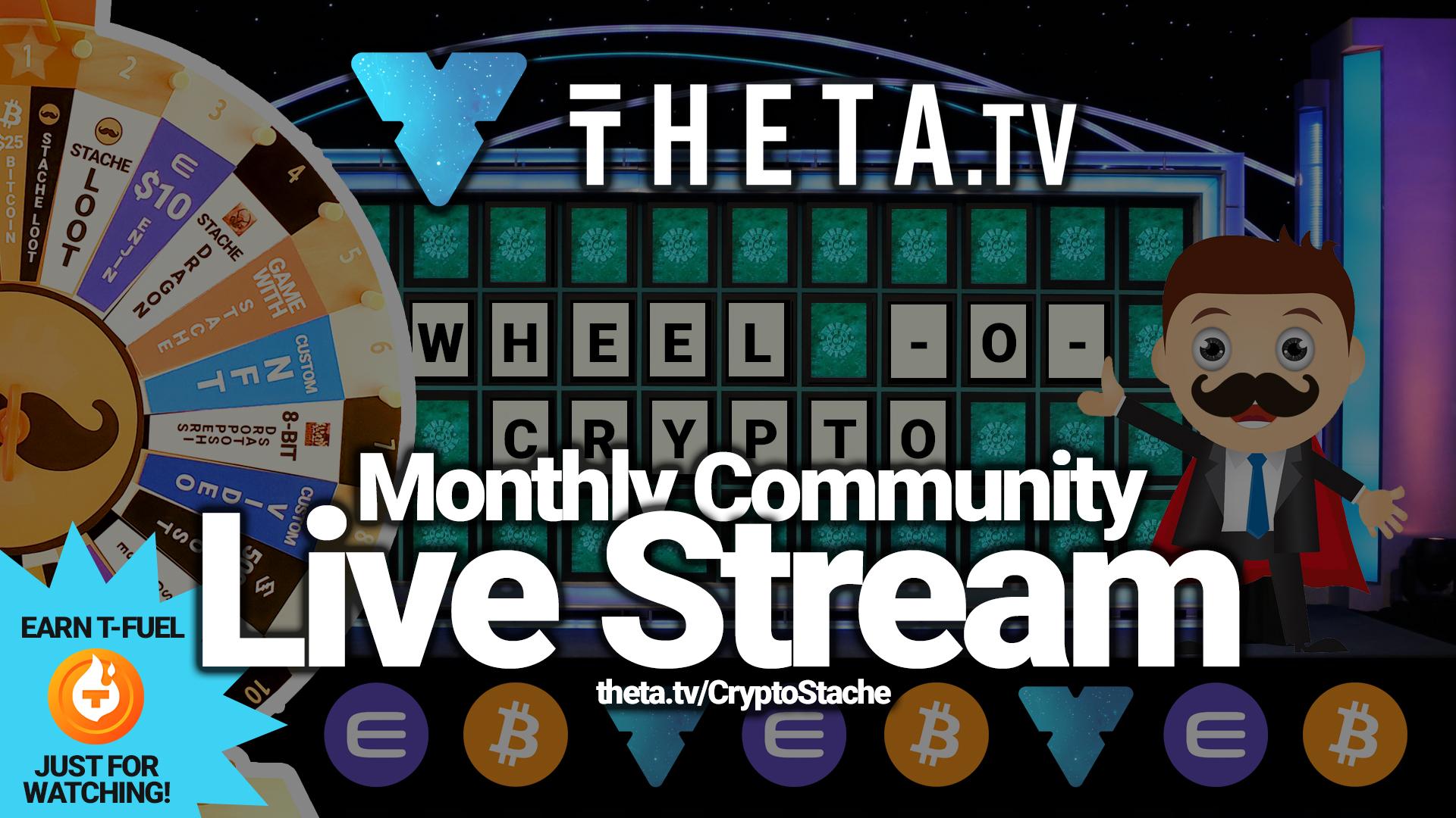 theta tv sliver live stream community stachers cryptostache TFUEL wheel-o-crypto giveaway prizes