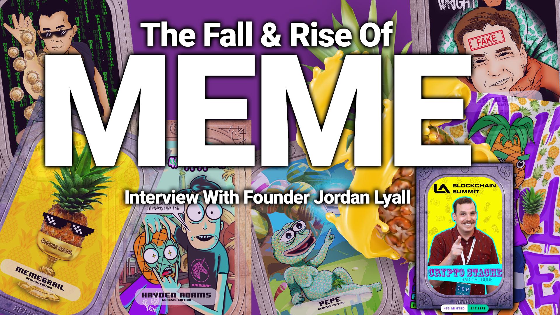 meme token coin dont buy interview jordan lyall founder nft defi