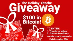 bitcoin giveaway holiday cryptostache giving free