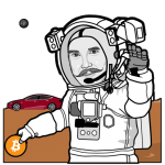bitcoin + tesla = mars