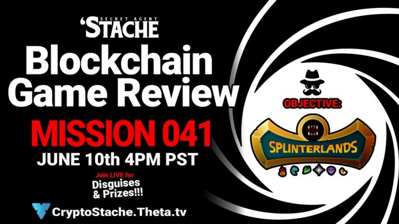 Secret Agent 'Stache - Mission 041: Splinterlands (Make Money Playing This Game)