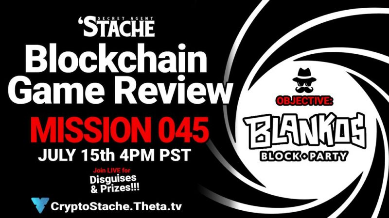 Blankos Blockparty NFT Gaming (Secret Agent 'Stache)