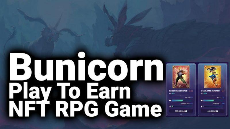 bunicorn nft play to earn game bsc binance smart chain