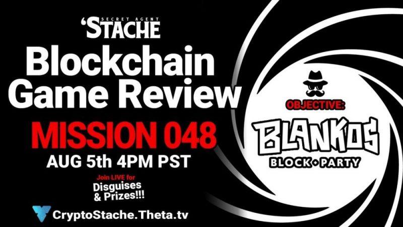 Blankos Block Party NFT Game to earn MONEY (Secret Agent 'Stache)