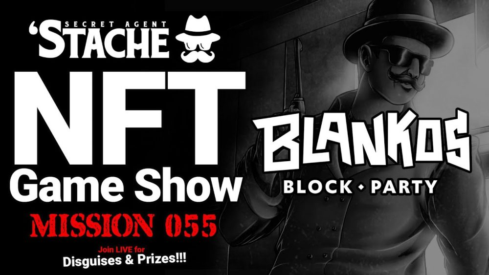 Blankos NFT Game To Play & Earn Money (Secret Agent 'Stache)
